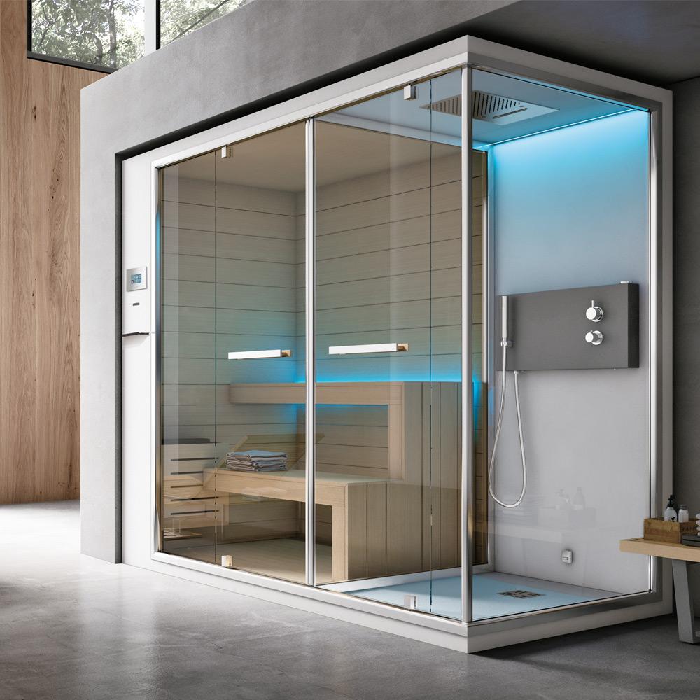 Ethos c hafro bagno saune e bagno turco - Cabina doccia con sauna e bagno turco ...