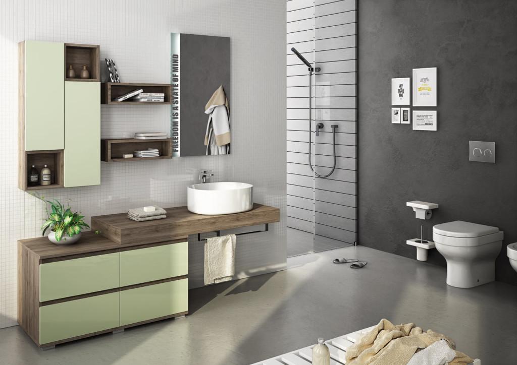 Bagni Moderni Verde Acqua : Freedom legnobagno: bagno mobili da bagno