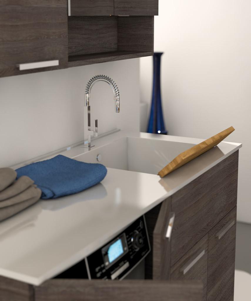 Urban lavanderia legnobagno bagno mobili da bagno - Mobile lavabo lavatrice ...
